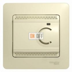 Термостат электронный для теплого пола с датчиком, 10A, Schneider Glossa бежевый GSL000238