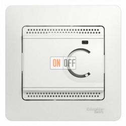 Термостат электронный для теплого пола с датчиком, 10A, Schneider Glossa белый GSL000138