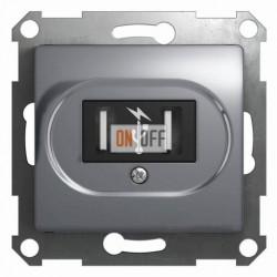 Розетка USB двойная для зарядки, Schneider Glossa алюминий GSL000332