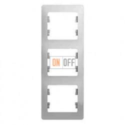 Рамка 3-ая Schneider Glossa для вертикальной установки, цвет белый пластик GSL000107