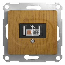 Розетка USB двойная для зарядки, Schneider Glossa дуб GSL000532