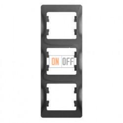 Рамка 3-ая Schneider Glossa для вертикальной установки, цвет алюминий пластик GSL000307