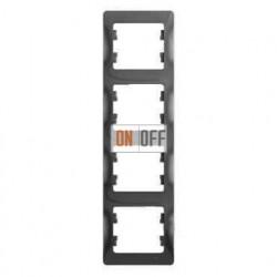 Рамка 4-ая Schneider Glossa для вертикальной установки, цвет алюминий пластик GSL000308