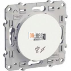 USB розетка для зарядки Schneider Odace белый S52R408