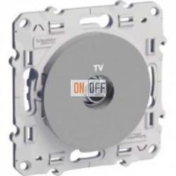 Розетка TV  Schneider Odace алюминий S53R445