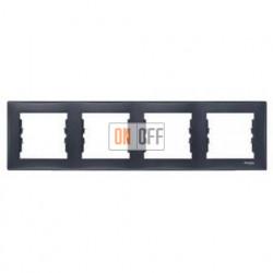 Рамка четырехместная для горизонтальной установки Schneider Sedna (графит) SDN5800770