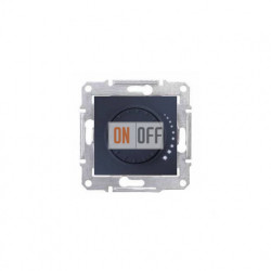 Поворотный светорегулятор (диммер)  1000 Вт/ВА Schneider Sedna, графит SDN2200970