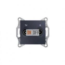 Розетка TV/FM проходная, 4 dB Schneider Sedna, графит SDN3301870