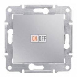 Одноклавишный выключатель Schneider Sedna, алюминий SDN0100160