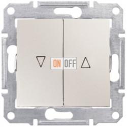 Выключатель для жалюзи  с механической блокировкой Schneider Sedna, бежевый SDN1300347