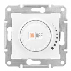 Поворотно-нажимной светорегулятор (диммер), 60-500 Вт/ВА, проходной Schneider Sedna, белый SDN2200521