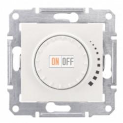 Поворотно-нажимной светорегулятор (диммер), 60-500 Вт/ВА, проходной Schneider Sedna, бежевый SDN2200547