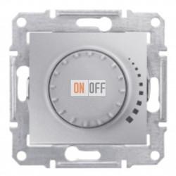 Поворотно-нажимной светорегулятор (диммер), 60-500 Вт/ВА, проходной Schneider Sedna, алюминий SDN2200560
