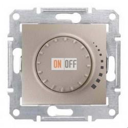 Поворотно-нажимной светорегулятор (диммер), 60-500 Вт/ВА, проходной Schneider Sedna, титан SDN2200568