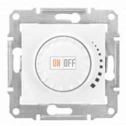 Поворотно-нажимной светорегулятор (диммер) универсальный, 40-600 Вт/ВА, проходной Schneider Sedna, белый SDN2200821