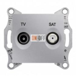 Розетка TV/FM оконечная, 1 dB Schneider Sedna, алюминий SDN3301660