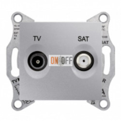 Розетка TV/FM проходная, 4 dB Schneider Sedna, алюминий SDN3301860