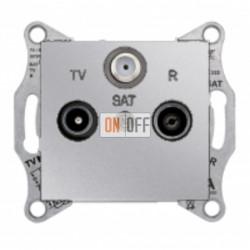 Розетка TV/FM/SAT  проходная, 4 dB Schneider Sedna, алюминий SDN3501460