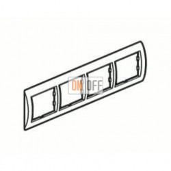 Рамка четверная, для гориз./вертик. монтажа Schneider Unica, белый-голубой лед MGU2.008.18 - MGU4.000.54 - MGU4.000.54 - MGU4.000.54 - MGU4.000.54