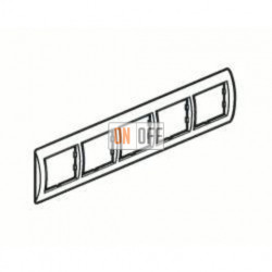 Рамка пятерная, для гориз./вертик. монтажа Schneider Unica, кремовый глянец MGU2.010.25