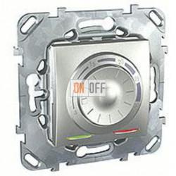 Термостат 230 В~ 10А с выносным датчиком для электрического подогрева пола Schneider Unica алюминий MGU5.503.30ZD