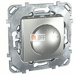 Светорегулятор поворотный 40-400 Вт. для ламп накаливания и галог.220В Schneider Unica алюминий MGU5.511.30ZD