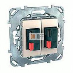 Розетка для стерео-громкоговорителя Schneider Unica кремовый MGU5.8787.25ZD