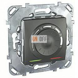 Термостат 230 В~ 10А с выносным датчиком для электрического подогрева пола Schneider Unica графит MGU5.503.12ZD