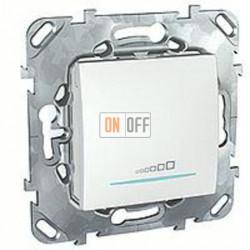 Светорегулятор клавишный универсальный 20-350 Вт. для ламп накал. и низковольтн. галог.ламп, 3-х проводное подключение Schneider Unica белый MGU5.515.18ZD
