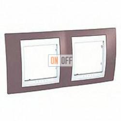 Рамка двойная, для горизонт. монтажа Schneider Unica Хамелеон лиловый-белый MGU6.004.876