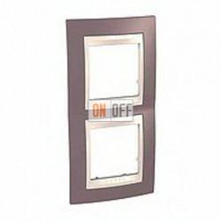 Рамка двойная, для вертик. монтажа Schneider Unica Хамелеон лиловый-бежевый MGU6.004V.576