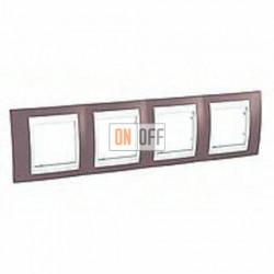 Рамка четверная, для горизонт. монтажа Schneider Unica Хамелеон лиловый-белый MGU6.008.876