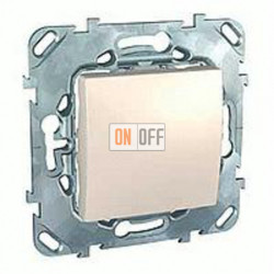 Выключатель одноклавишный перекрестный (вкл/выкл с 3-х мест) 10 А / 250 В~  Schneider Unica кремовый MGU5.205.25ZD