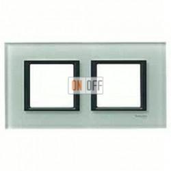 Рамка двойная, для гориз./вертик. монтажа Schneider Unica Class матовое стекло MGU68.004.7C3