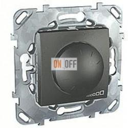 Светорегулятор поворотный 40-1000 Вт. для ламп накаливания и галог.220В, трехпроводное подключение Schneider Unica графит MGU5.512.12ZD