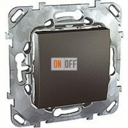 Выключатель одноклавишный 10 А / 250 В~  Schneider Unica графит MGU5.201.12ZD