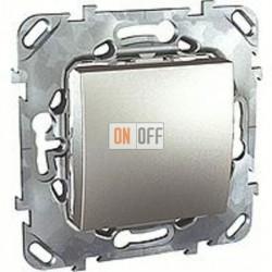 Выключатель одноклавишный перекрестный (вкл/выкл с 3-х мест) 10 А / 250 В~ Schneider Unica алюминий MGU5.205.30ZD