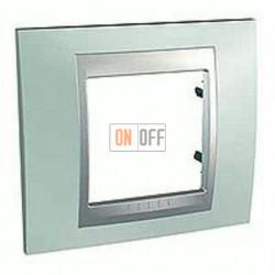 Рамка одинарная Schneider Unica TOP флюорит-алюминий MGU66.002.094
