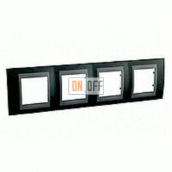 Рамка четверная, для горизонт. монтажа Schneider Unica TOP родий-графит MGU66.008.293