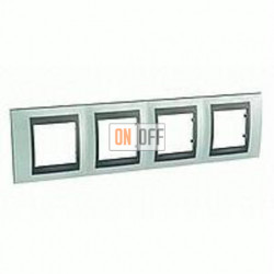 Рамка четверная, для горизонт. монтажа Schneider Unica TOP флюорит-графит MGU66.008.294