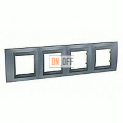 Рамка четверная, для горизонт. монтажа Schneider Unica TOP грей-графит MGU66.008.297