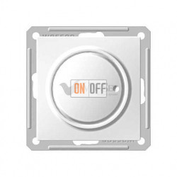 Светорегулятор поворотно-нажимной 600 Вт, 230 В для галог. ламп и накаливан., Schneider W59 белый SR-5S2-1-86