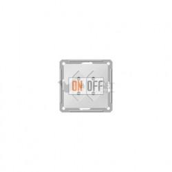 Розетка двойная без заземления для узких вилок 6А 250 В, Schneider W59 белый RS6-253-1-86