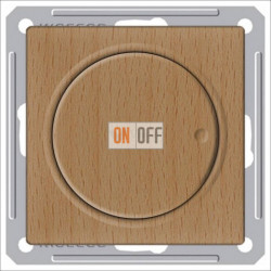 Светорегулятор поворотно-нажимной 600 Вт, 230 В для галог. ламп и накаливан., Schneider W59 бук SR-5S2-8-86