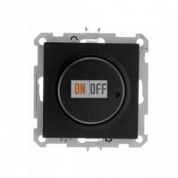 Светорегулятор поворотно-нажимной 600 Вт, 230 В для галог. ламп и накаливан., Schneider W59 черный бархат SR-5S2-6-86