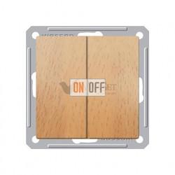 Выключатель двухклавишный 16 А 250 В, Schneider W59 бук VS516-252-8-86