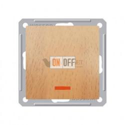 Выключатель одноклавишный с подсветкой 16 А 250 В, Schneider W59 бук VS116-153-8-86