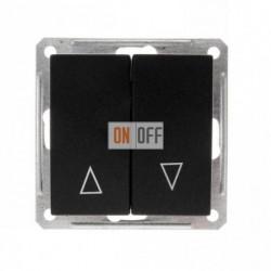 Выключатель для жалюзи с механической блокировкой 16 А 250 В, Schneider W59 черный бархат VS416-253-6-86