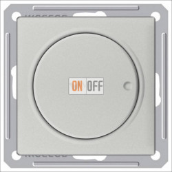 Светорегулятор поворотный 300 Вт, 230 В для галог. ламп и накаливан., Schneider W59 матовый хром SR-5S0-5-86