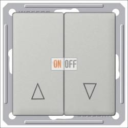 Выключатель для жалюзи с механической блокировкой 16 А 250 В, Schneider W59 матовый хром VS416-253-5-86